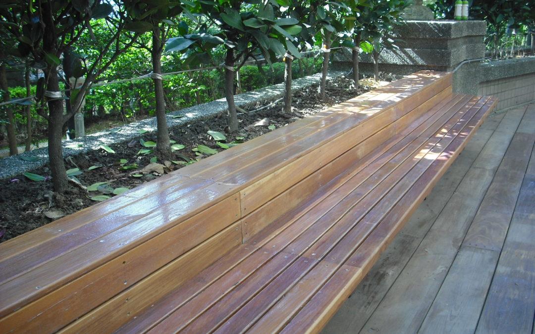 鐵木座椅-壁掛式庭院鐵木座椅