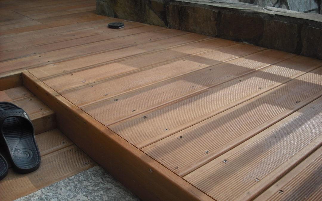 中壢私宅南洋櫸木地板 圍籬