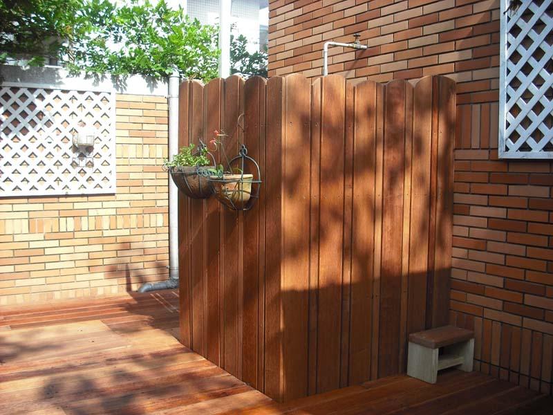 林口私宅鐵木木平台 格柵