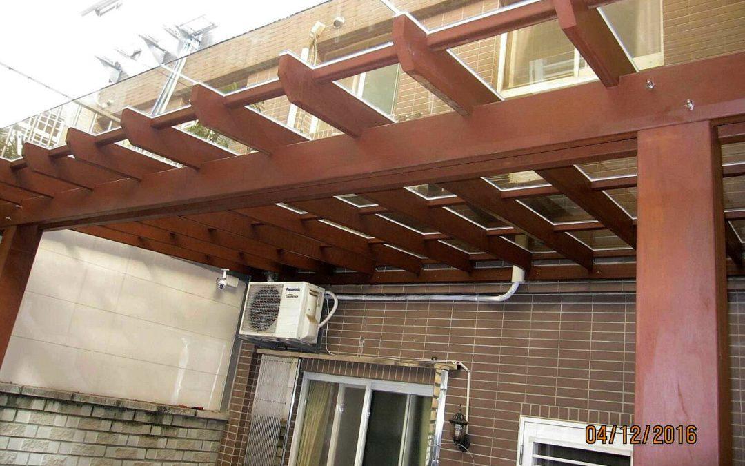 新竹私宅花架採光罩