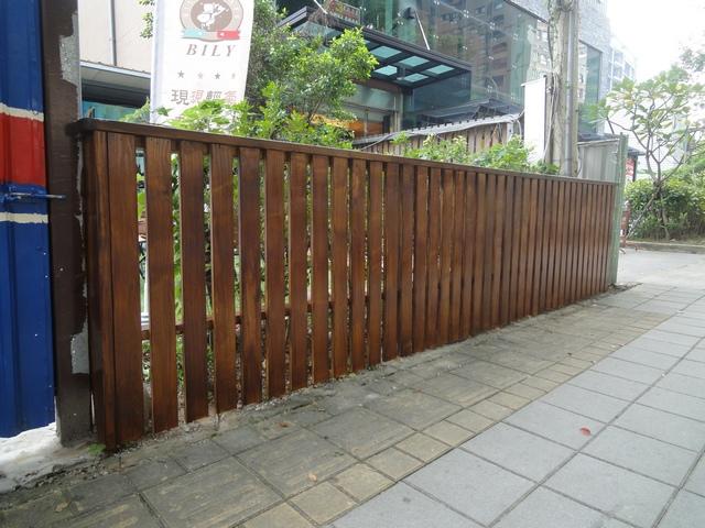 BILY咖啡木圍籬庭園平台