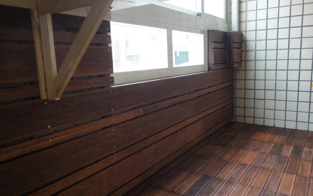 關東路私宅陽台地板 立面牆板