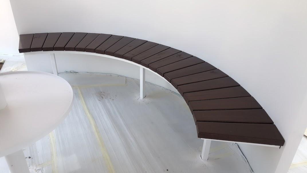 南方松椅-造型椅、鋼構弧形椅
