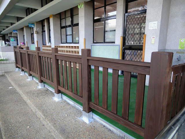 國泰國小幼兒園木欄杆 木門