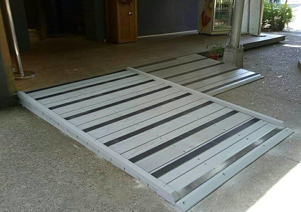 無障礙坡道-蔣宋美齡紀念品館南方松無障礙坡道