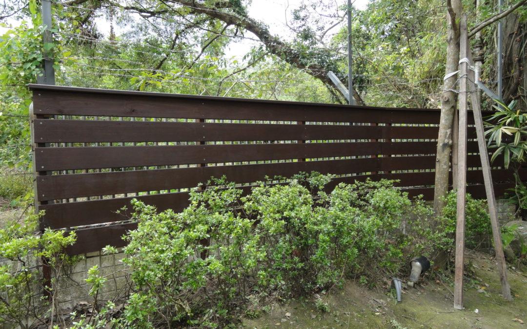 木圍籬-汐止橫科山私宅景觀圍籬