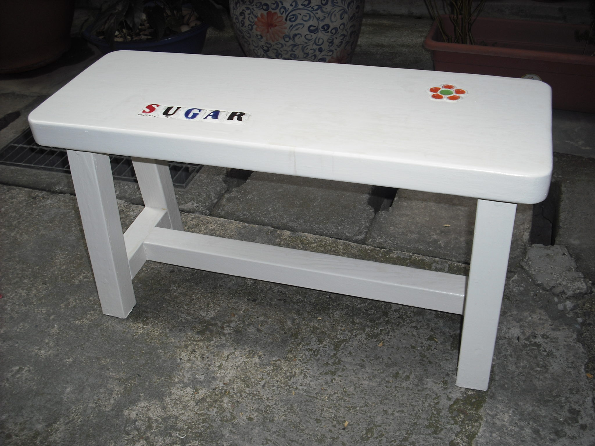 防水塗料鑲嵌馬賽克板凳