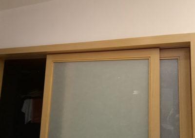 吊軌式木皮板障子門樣式二